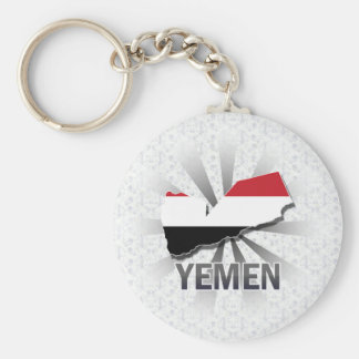 Yemen Flag Map 2.0 Keychain