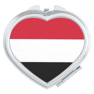 Yemen Flag Mirror For Makeup