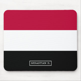 Yemen flag mouse pad