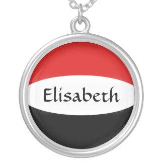 Yemen Flag + Name Necklace