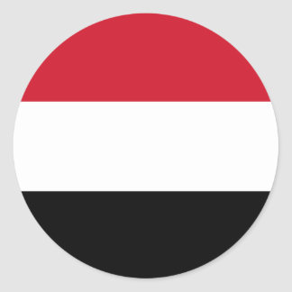 Yemen Flag Round Sticker