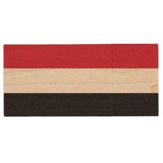 Yemen Flag Wood USB 3.0 Flash Drive