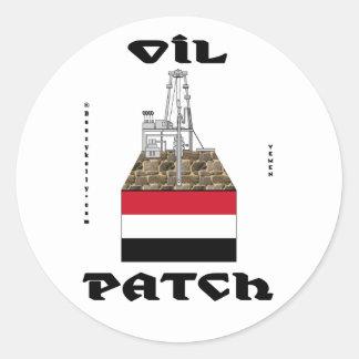 Yemen Oil Patch,Sticker,Alif Oil Field,Oil,Gas Classic Round Sticker