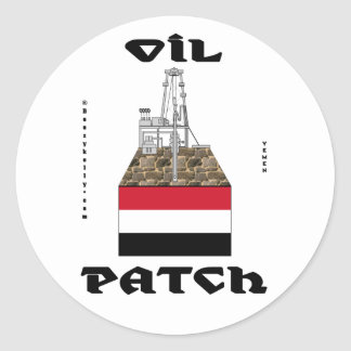 Yemen Oil Patch,Sticker,Alif Oil Field,Oil,Gas Round Sticker