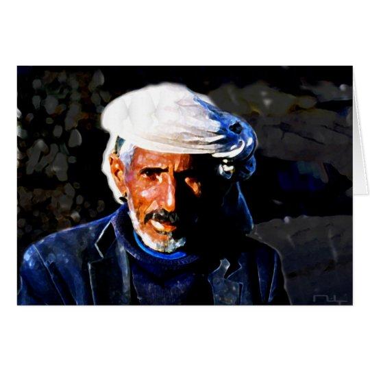 yemenite at the market(card) card