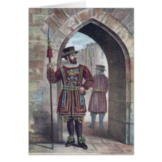 Yeoman Warder at the Tower of London Card