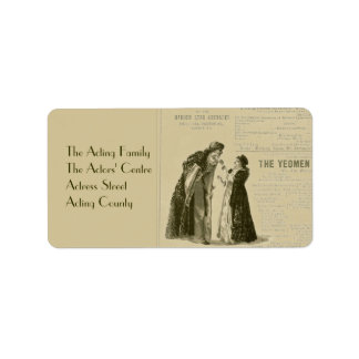 Yeomen of the Guard Cast Address Label
