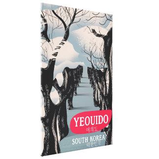Yeouido South Korea travel poster Canvas Print