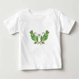 Yerba Mate Flower Leaf and Fruit Drawing Baby T-Shirt
