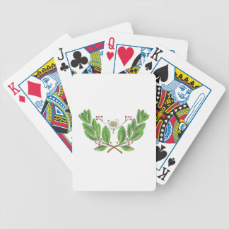 Yerba Mate Flower Leaf and Fruit Drawing Bicycle Playing Cards
