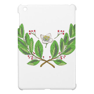 Yerba Mate Flower Leaf and Fruit Drawing Case For The iPad Mini