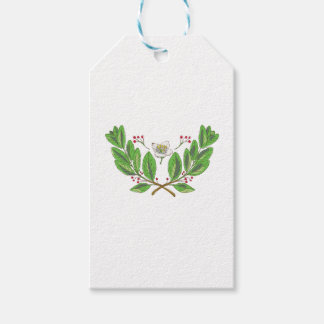 Yerba Mate Flower Leaf and Fruit Drawing Gift Tags