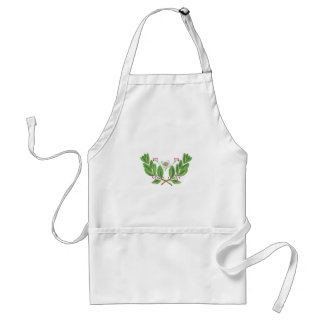 Yerba Mate Flower Leaf and Fruit Drawing Standard Apron