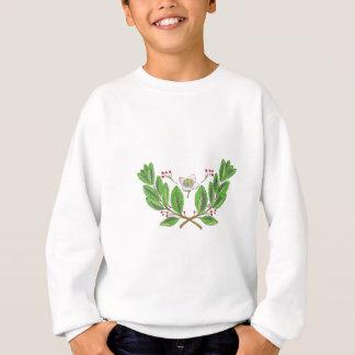Yerba Mate Flower Leaf and Fruit Drawing Sweatshirt