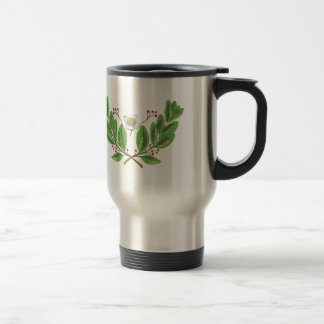 Yerba Mate Flower Leaf and Fruit Drawing Travel Mug