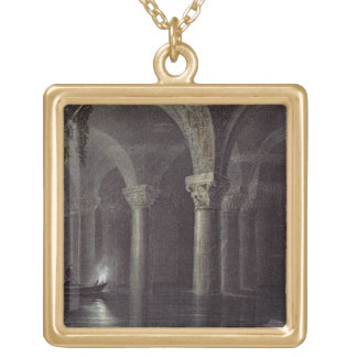 Yere Batan Serai (The Cisterns) Istanbul, engraved Gold Plated Necklace