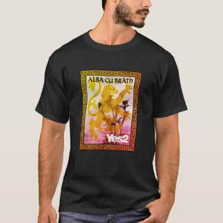 Yes2 Alba Gu Bràth Rampant Thistle Saltire T-Shirt