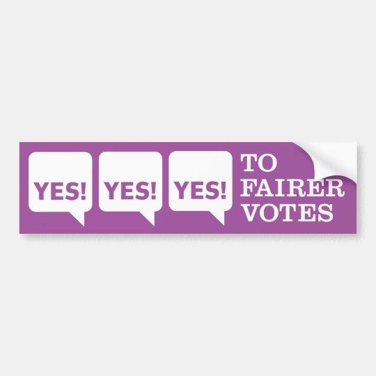 Yes2AV Bumper sticker