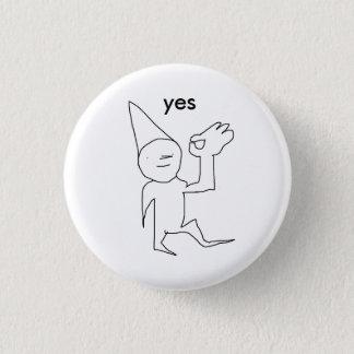 yes. 1 inch round button