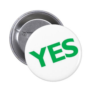 Yes 2 Inch Round Button