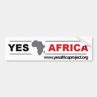 Yes Africa Bumper Sticker
