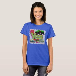 YES CALIFORNIA CALEXIT Green+Black Bear Red Star T-Shirt