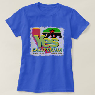 YES CALIFORNIA CALEXIT Green+Black Bear Red Star T-Shirt