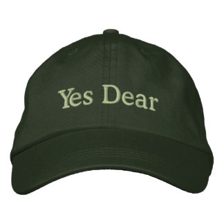 Yes Dear Cap for Groom Embroidered Hats