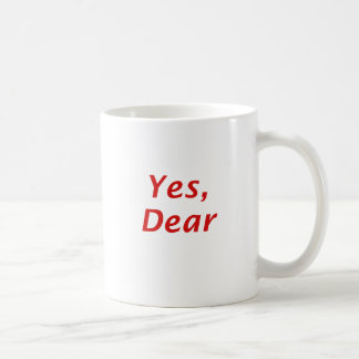 Yes Dear Classic White Coffee Mug