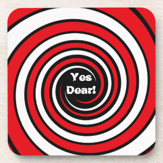 """Yes dear"" Cork Coaster"