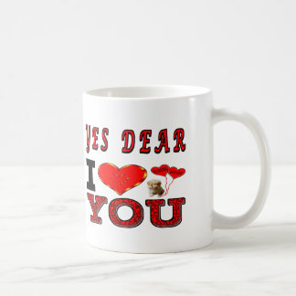 Yes Dear I Love You Basic White Mug