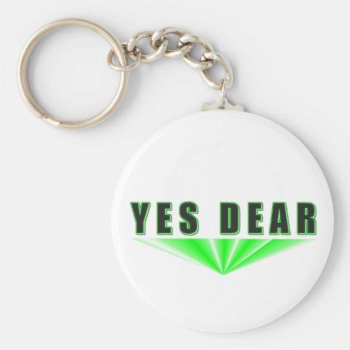 Yes Dear Keychains