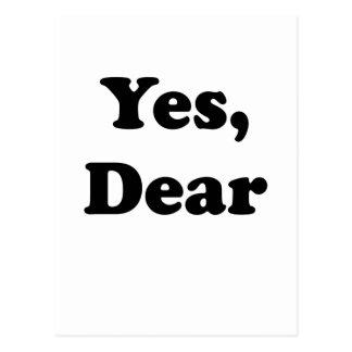 Yes Dear Postcard