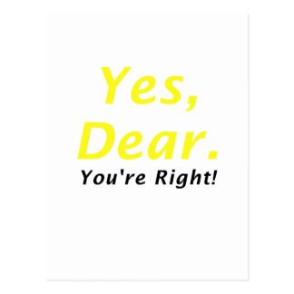 Yes Dear Youre Right Postcard