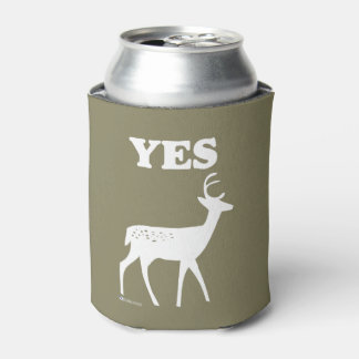 YES DEER FUNNY COOLIE CAN COOLER