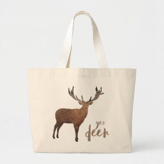 Yes Deer Tote Bag