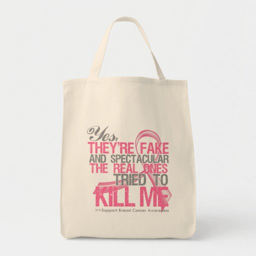 Yes Fake and Spectacular - Breast Cancer Bags
