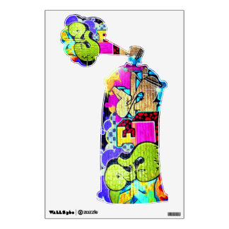 Yes Graffiti Spray Can - Art for Your Toilet Wall Sticker
