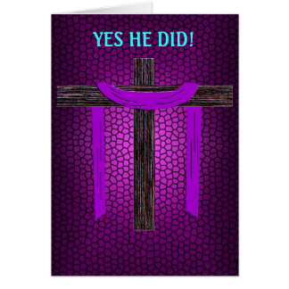 Yes He Did! (cross embossed) Card