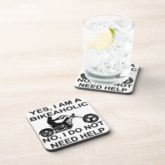 Yes I Am A Bikeaholic No I Do Not Need Help Beverage Coasters