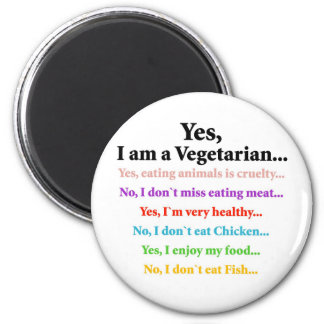 Yes, I am a Vegetarian... Magnet