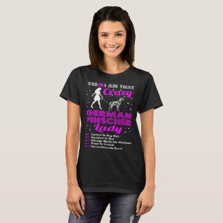 Yes I Am That Crazy German Pinscher Dog Lady Tshir T-Shirt
