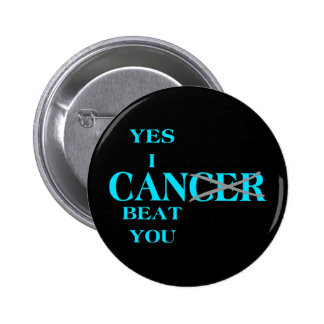 Yes I Can Beat Cancer Blue 2 Inch Round Button