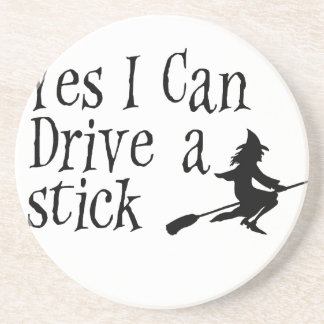Yes I Can Drive a Stick Coaster