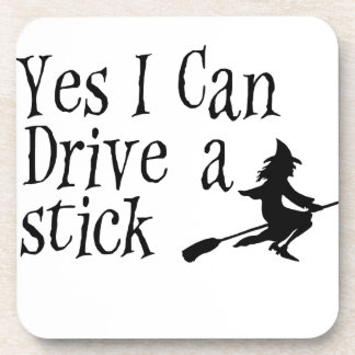 Yes I Can Drive a Stick Coasters