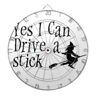 Yes I Can Drive a Stick Dartboard