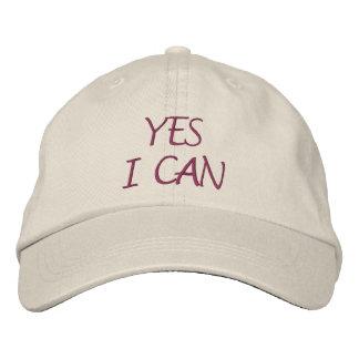 Yes I Can Inspirational Baseball Cap