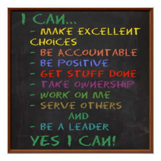 YES I CAN! Motivational and Inspirational Poster