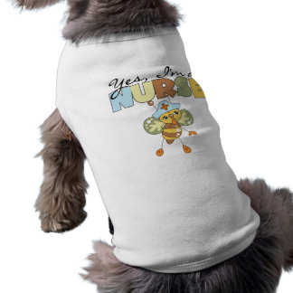 YES I m a Nurse T-shirts and Gifts Doggie Tshirt