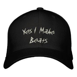 Yes I Make Beats Embroidered Baseball Caps